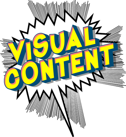 Visual Content - Vector illustrated comic book style phrase. 일러스트