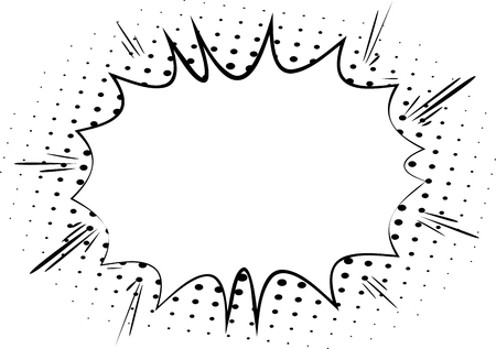 Vector comic book explosion, blank bubble. Comic style cartoon background for your text.