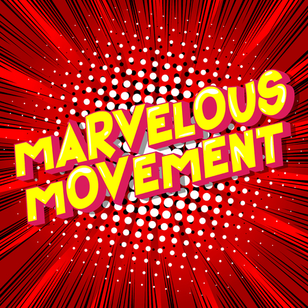 Marvelous Movement - Vector illustrated comic book style phrase on abstract background. 向量圖像