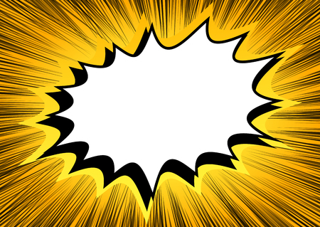 Vector illustrated comic book style explosions background. Vektorové ilustrace