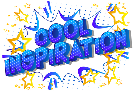 Cool Inspiration - Vector illustrated comic book style phrase on abstract background. 向量圖像