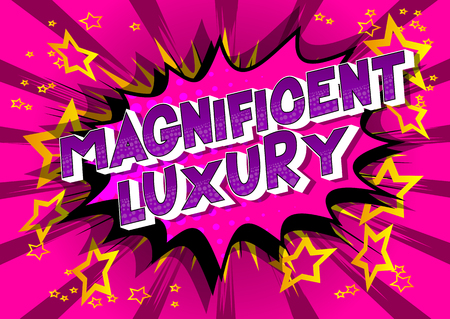 Magnificent Luxury - Vector illustrated comic book style phrase on abstract background.