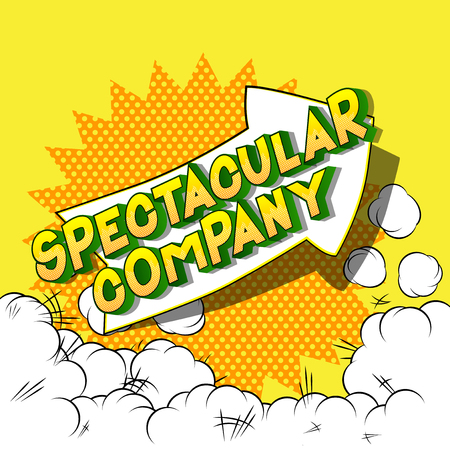 Spectacular Company - Vector illustrated comic book style phrase on abstract background. 向量圖像