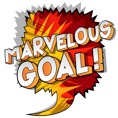 Marvelous Goal! - Vector illustrated comic book style phrase on abstract background.