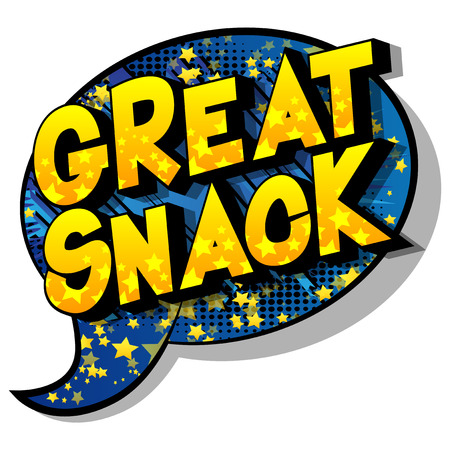 Great Snack - Vector illustrated comic book style phrase on abstract background. 일러스트