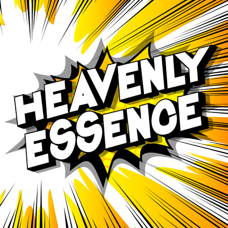 Heavenly Essence - Vector illustrated comic book style phrase on abstract background. Ilustração