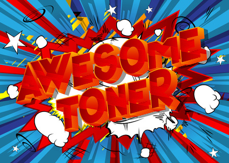 Awesome Toner - Vector illustrated comic book style phrase on abstract background.