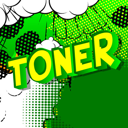 Toner - Vector illustrated comic book style phrase on abstract background. Illustration