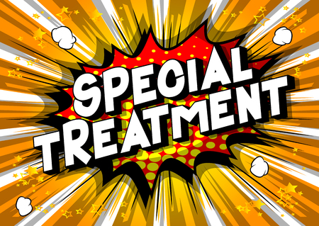 Special Treatment - Vector illustrated comic book style phrase on abstract background. Stock Illustratie