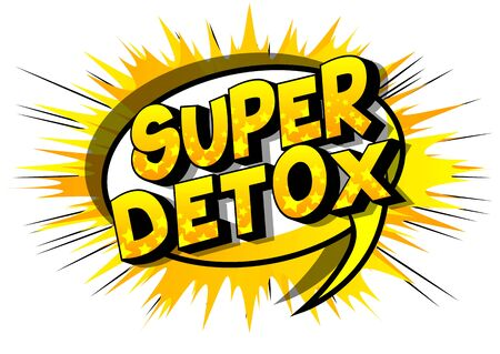 Vector illustrated comic book style Super Detox text.  イラスト・ベクター素材