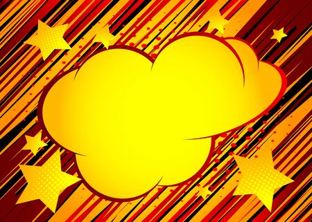 Cartoon design colored background with speech bubble. Comic book backdrop illustration. Vector comics wallpaper.