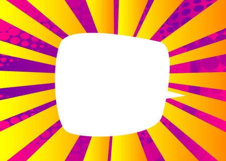 Blank Speech bubbles. Cartoon design colored background. Comic book illustration. Vector comics backdrop for poster. Social media post design template. 免版税图像 - 161730729