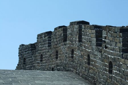 A section of Greatwall with blue sky in the background