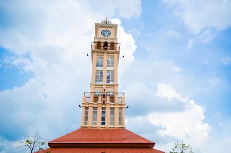 kelantan: Clock tower in Kelantan, Malaysia with sky background