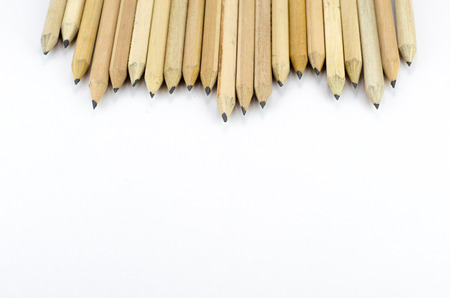 secretarial: Wooden pencils isolated on white background