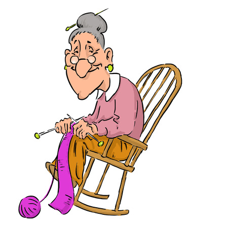 Nice elderly Grandma in a rocking chair.