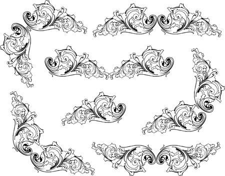 revivalism: Retro old-fashioned elegance vector patterns