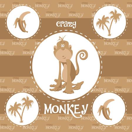 anthropoid: Crazy monkey Illustration