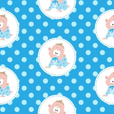 night suit: Cute little baby pattern Illustration
