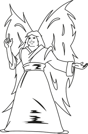 good news: Angel of God propagates the good news of the resurrection for everyone.