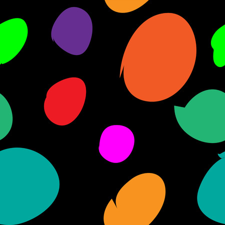 Colorful abstract pattern with several points and black background.