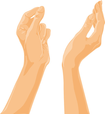 Hands Reaching Towards the sky illustration.