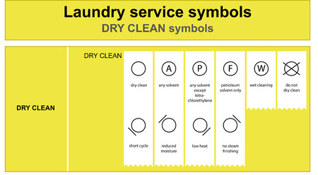 Laundry service dry clean icon set