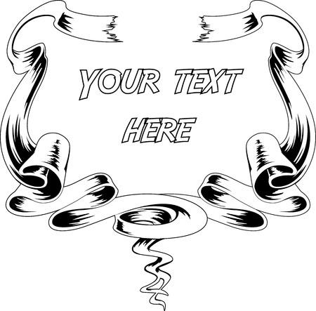 Hand drawn vector ribbons 向量圖像