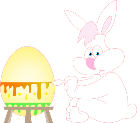 contoured: Easter bunny painting Easter egg