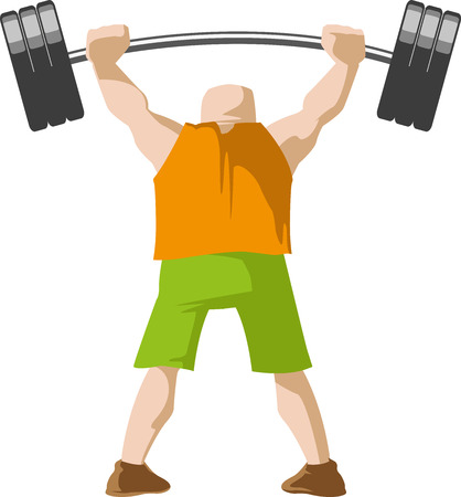 Weight lifter back Illustration
