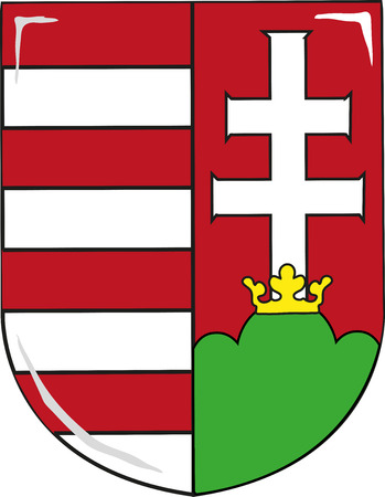 white coat: Coat of arms of Hungary