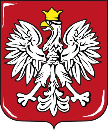 Escudo de armas de Polonia Foto de archivo - 80834834