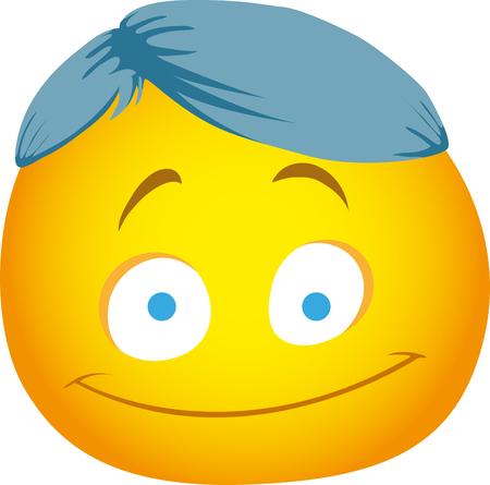 Emoji with strange hair