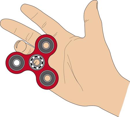 Fidget spinner in hand