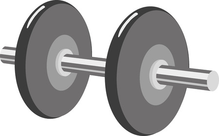 Barbell with weight plates.