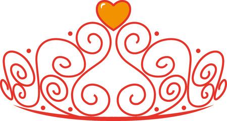 Princess Tiara with a heart gem.
