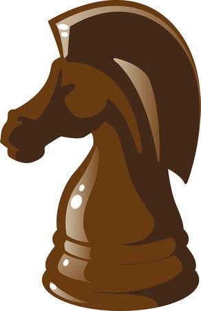Knight chess figure