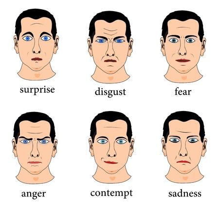 desprecio: Cara expresión