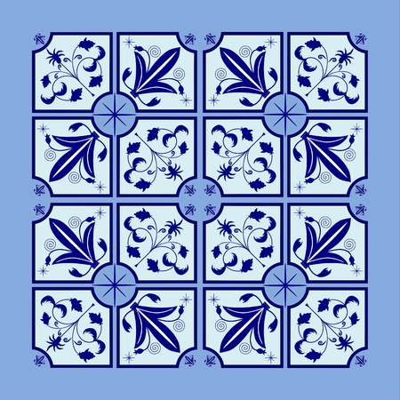 Arabesque with floral motif in the form of a square easy for installation in larger forms