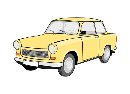 Old car from eastern germany  Without gradients  Vector