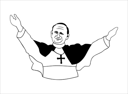Pope  Without gradients  Easy to change colors  Vector