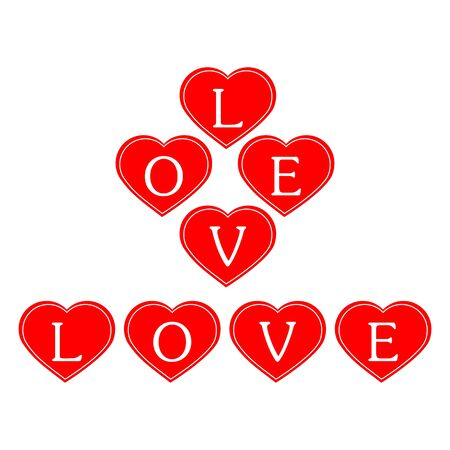 Illustration of hearts on a white background Stock Vector - 17305335
