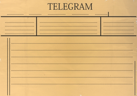 Telegram blank with space for any text