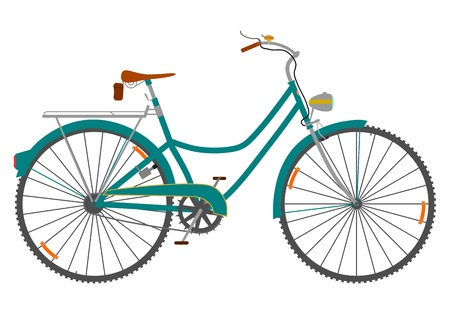 Retro bicycle on a white background