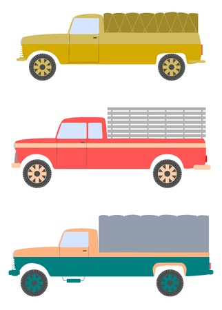 Silhouettes of old truck on a white background. Stock Vector - 18709217