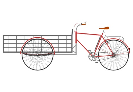 Carrier bicycle silhouette on a white background. Vector