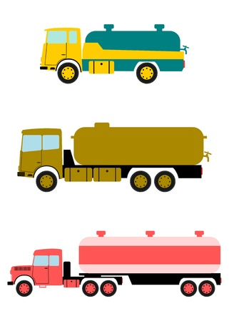 Retro tanker truck with space for any text. Vector