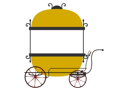 vendors: Vendors cart in retro style on a white background