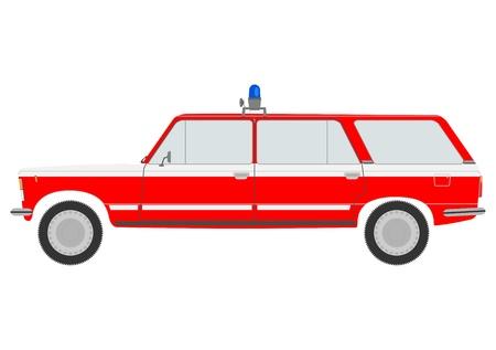 fire engine: Piccolo camion dei pompieri. Vettoriali