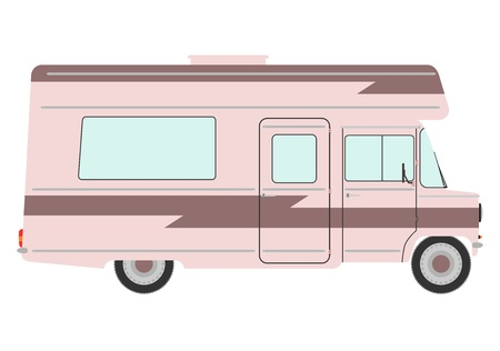 Vintage motorhome on a white background. Stock Vector - 19495993